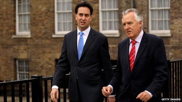 Ed Miliband and Peter Hain pictured in 2010