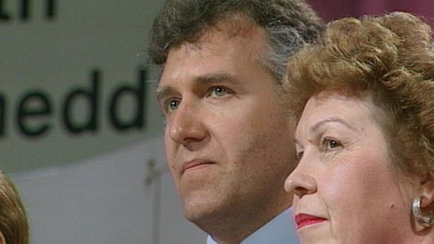 Peter Hain at a Labour Party regional conference in 1991