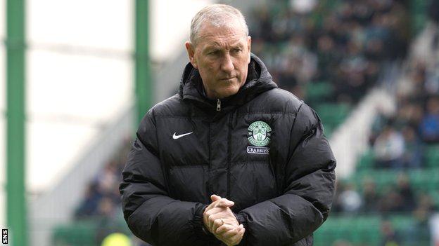Hibernian manager Terry Butcher