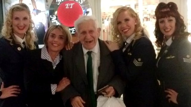 Bernard Jordan on his way home