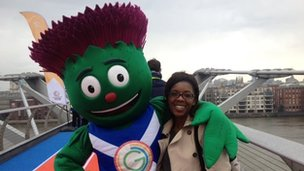 Clyde - the Glasgow 2014 - and BBC reporter