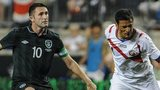 Republic of Ireland striker Robbie Keane in action against Costa Rica