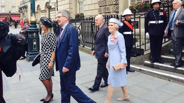 Mary Berry leaves the Guildhall on the day she is given the freedom of the city
