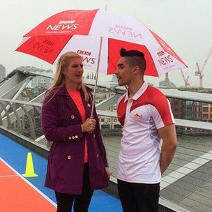 Rebecca Adlington and Louis Smith