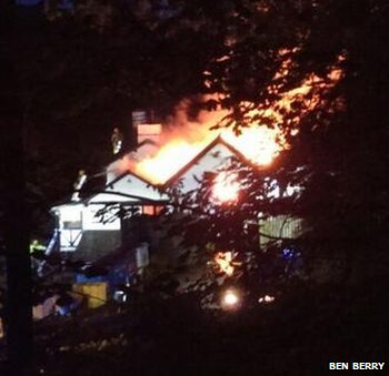 Fire at Queen's Head Hotel