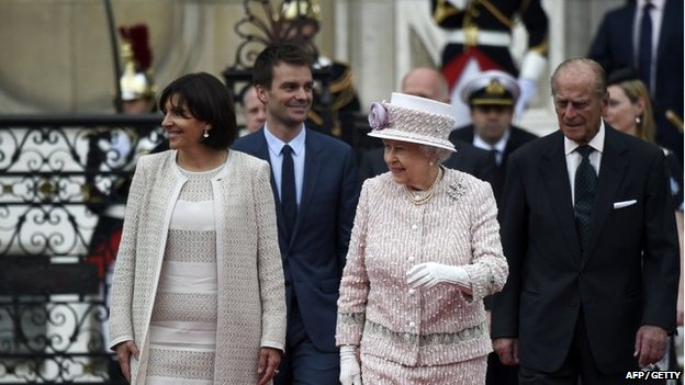 The Queen and the Duke of Edinburgh during their state visit to France