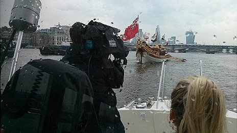 Baton carried on the River Thames