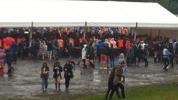 Wet conditions at Parklife