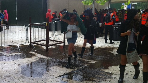 Water at entrance of Parklife