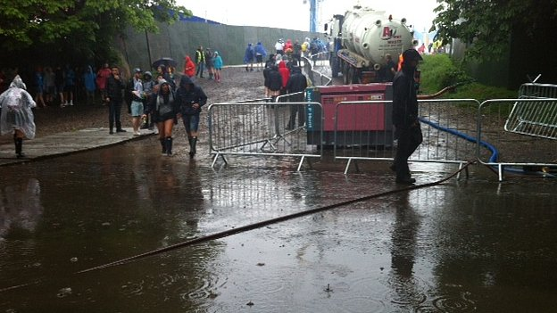 Water pumped from Parklife entrance