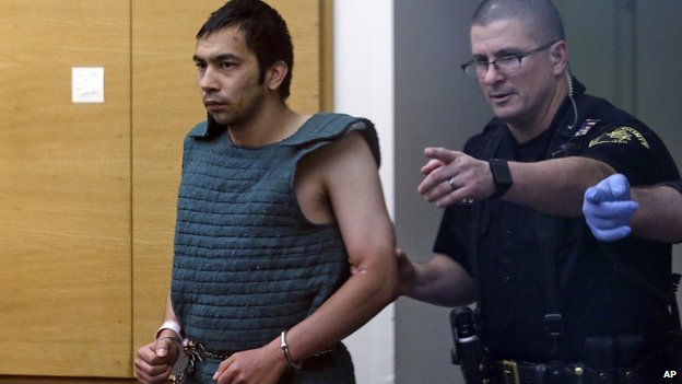 Shooting suspect Aaron Ybarra at his court appearance on Friday
