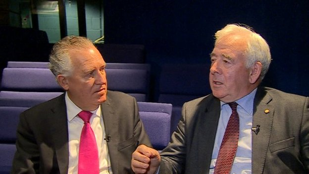 Peter Hain and Lord Wigley