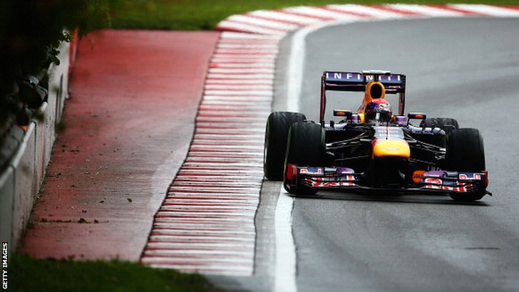 Sebastian Vettel's pole lap in Canada, 2013
