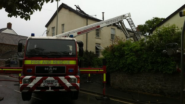 Lightning strike in South Molton