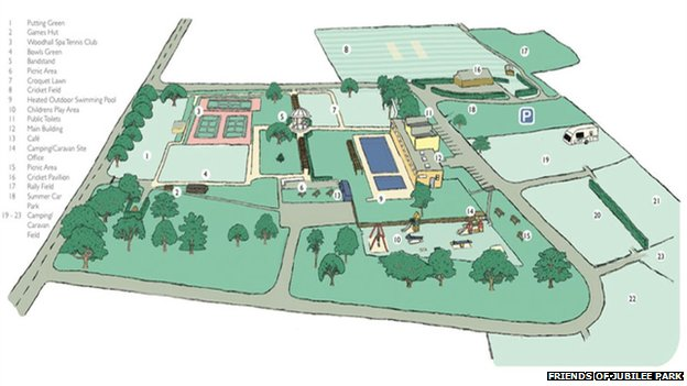 Map of Jubilee Park