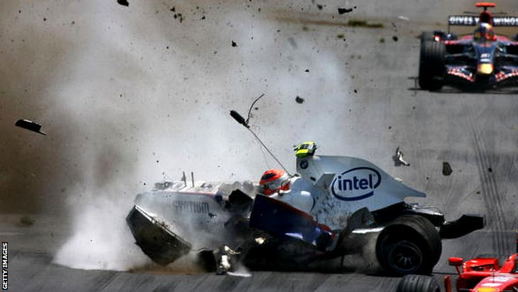 Robert Kubica's epic 2007 crash at Montreal