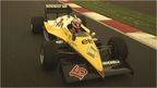Romain Grosjean driving Alain Prost's Renault
