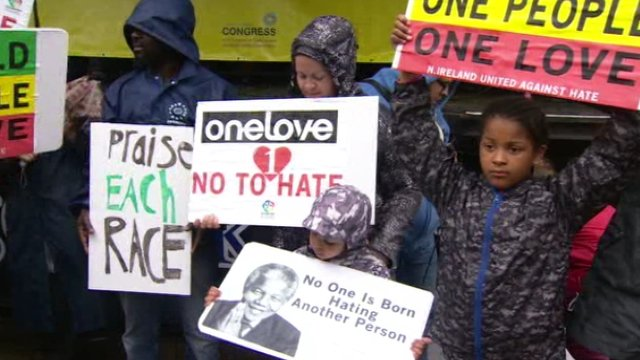 Anti-racism rally in Belfast