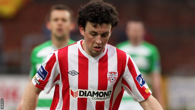 Barry McNamee put Derry ahead at St Colman's Park
