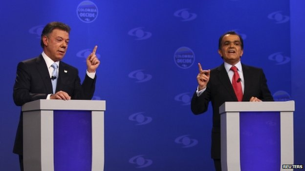 Santos and Zuluaga TV debate, 6 May 14