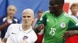 United States midfielder Michael Bradley in action against Nigeria