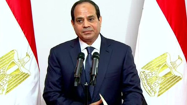 Abdul Fattah al-Sisi is sworn in