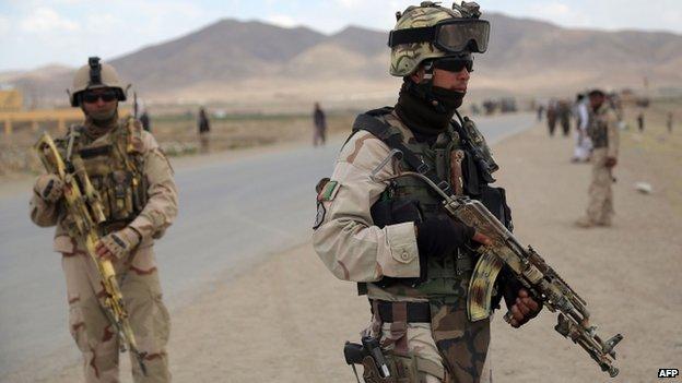 Afghan commandos in Ghazni province (3 June 2014)