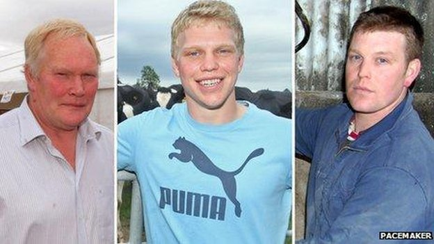 Spence family members who died in a slurry accident