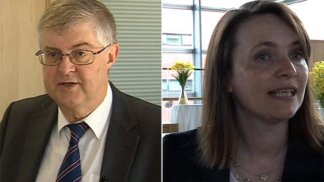 Mark Drakeford and Kirsty Williams