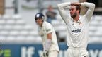 Reece Topley of Essex is frustrated as Glamorgan pile on the runs.