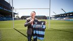 Cardiff Blues new director of rugby Mark Hammett is unveiled.