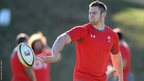 Dan Lydiate, who will captain Wales in their warm-up match against Eastern Province Kings on Tuesday, on the training ground.
