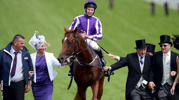Joseph O'Brien with racehorse Australia