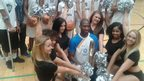 Baton bearer Ashley Cooper visited The Copperbox in time to see his side win the CBL U16 championship