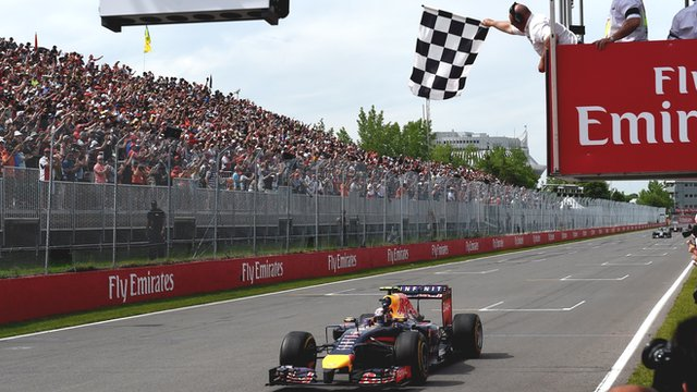 Red Bull's Daniel Ricciardo wins the Canadian Grand Prix