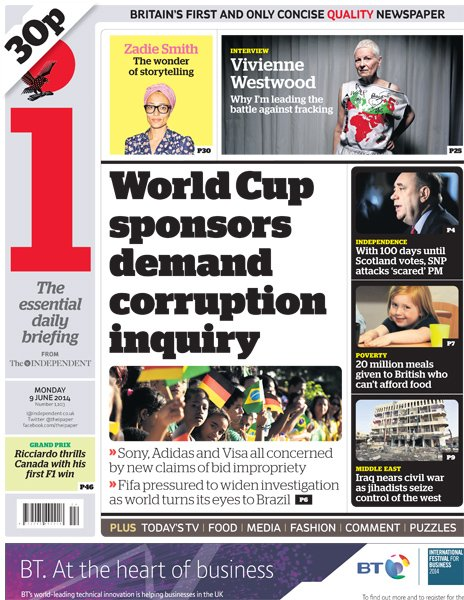 The i front page