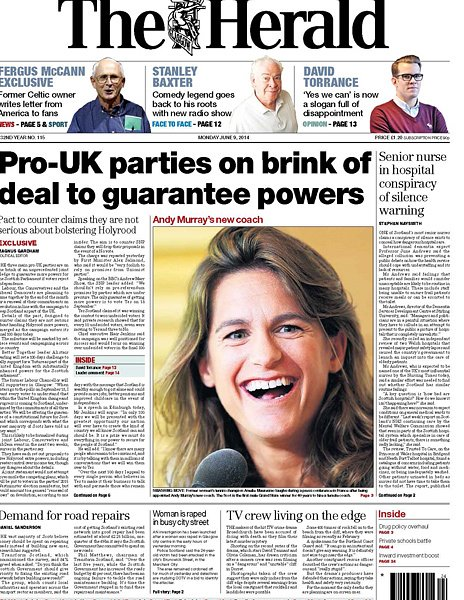 The Herald front page