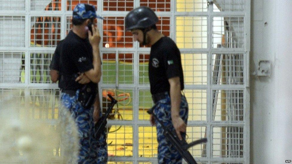 Pakistani Airport Security Force members at Karachi airport