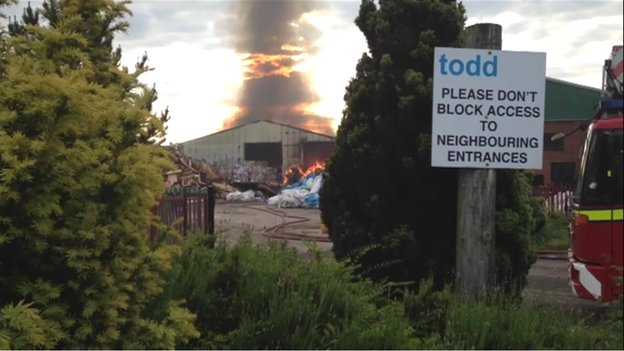 Fire at Todd Waste Management