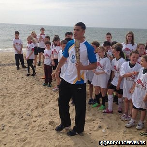 Anthony Ogogo on Lowestoft beach