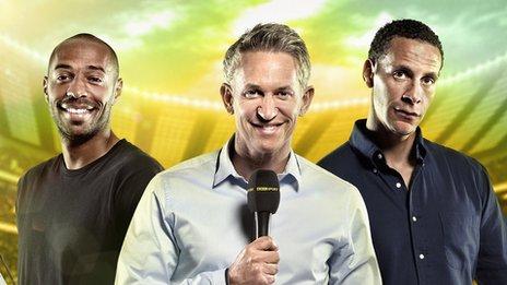 Thierry Henry, Gary Lineker, Rio Ferdinand