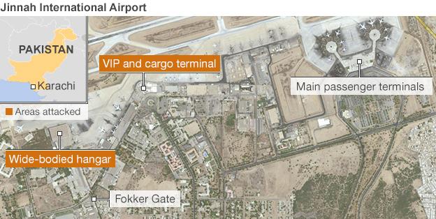 Karachi airport map