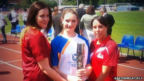 Rachael Latham, Lily Reynolds and Beth Tweddle