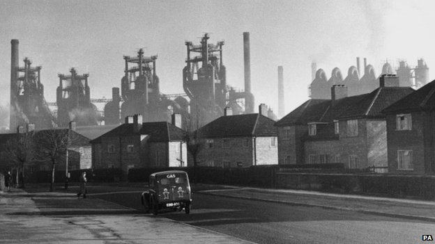 Corby steelworks in 1950