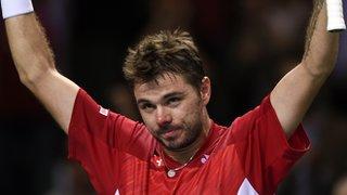 Stan Wawrinka in a Davis Cup tie