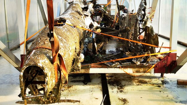 Recovered Dornier remains