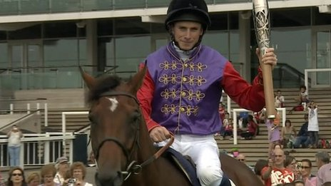 Ryan Moore on Darcy Indiana at Newmarket