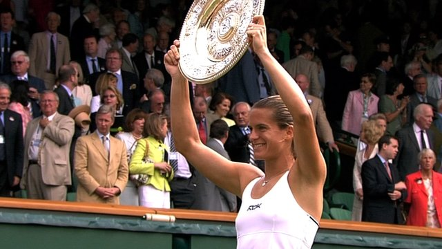 Andy Murray's new coach Amelie Mauresmo winning Wimbledon