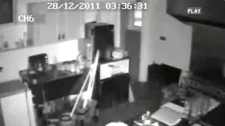 CCTV footage from the club
