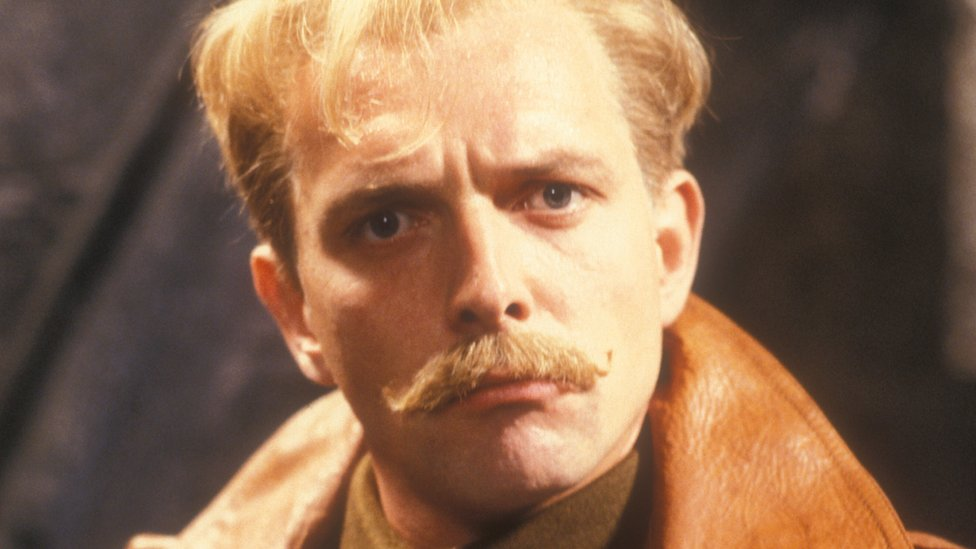 Rik Mayall as flying ace Lord Flashheart in Blackadder Goes Fourth